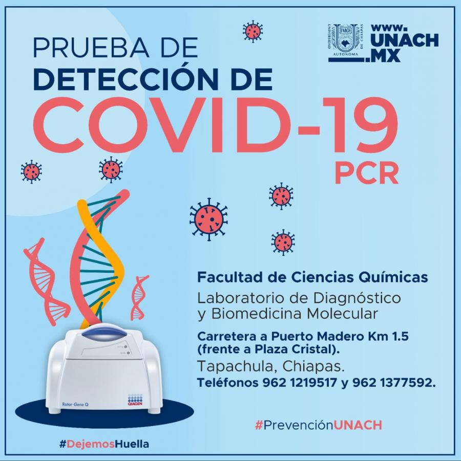Pruebas para COVID-19 en Químicas UNACH C-IV